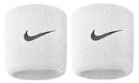Aproces Nike Swoosh Wristbands - white/black