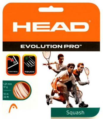 Skvošo stygos Head Evolution Pro (10 m) - white