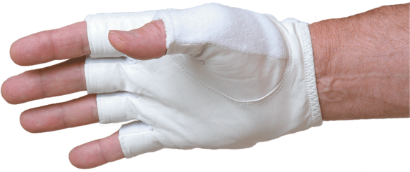 Rękaw kompresyjny Tourna Unique Half Finger Mens Glove Left - white