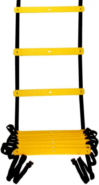 Ljestve za vježbanje Pro's Pro Agility Ladder (9 m) - yellow/black