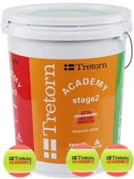 Teniso kamuoliukai pradedantiesiems Tretorn Academy Orange 72 vnt. - (kibiras)