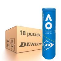 Karton piłek tenisowych Dunlop Australian Open Special Offer - 18 x 4 szt.