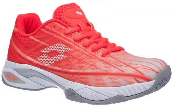Damskie buty tenisowe Lotto Mirage 300 Speed W - fiery coral/all white
