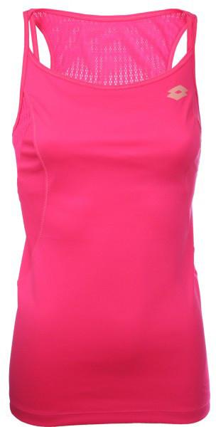Damski top tenisowy Lotto Tank Nixia II - pink fluo pop