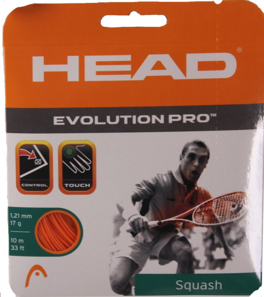 Skvoša stīgas Head Evolution Pro (10 m) - orange