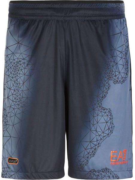 Tenisa šorti vīriešiem EA7 Man Jersey Shorts - fancy blue