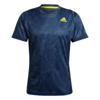 Muška majica Adidas Freelift Printed Primeblue Tee M - crew navy/acid yellow/crew blue