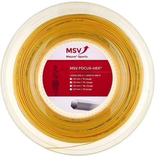 Tenisa stīgas MSV Focus Hex (200 m) - yellow