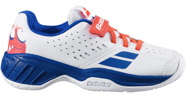 Juniorskie buty tenisowe Babolat Pulsion All Court Kid - white/dazzling blue