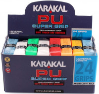 Grip - replacement Karakal PU Super Grip (1 szt.) - white/yellow/blue