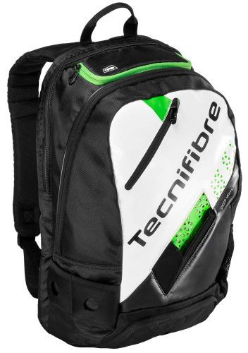 Ruksak za skvoš Tecnifibre Squash Green Backpack - white/black/green
