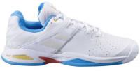 Juniorskie buty tenisowe Babolat Propulse All Court Junior - white/diva blue