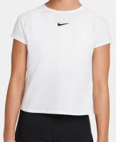 Koszulka dziewczęca Nike Dri-Fit Victory G - white/white/black