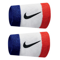 Frotka tenisowa Nike Swoosh Double-Wide Wristbands - habanero red/black