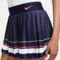 Damska spódniczka tenisowa Nike Court Maria Skirt W - blackened blue/white/laser crimson