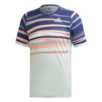 Męski T-Shirt Adidas Freelift Tee Heat Ready - dash green/tech indigo