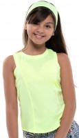Majica kratkih rukava za djevojčice Lucky in Love Going Wild Starter Tank Girls - lemon frost