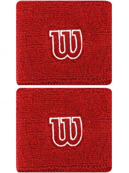 Frotka tenisowa Wilson Wristbands Poignets - red