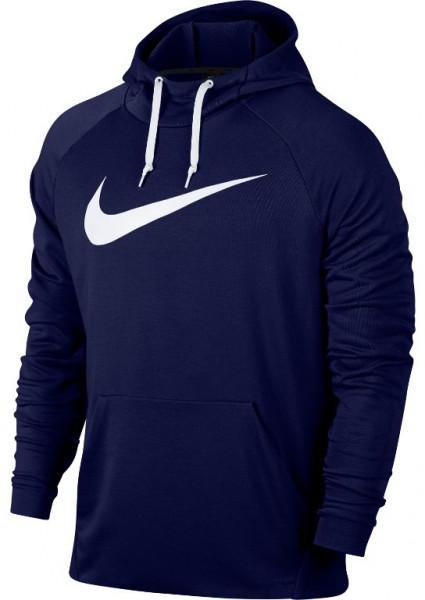 Nike Dry Swoosh Hoodie - blue void/white