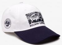 Czapka tenisowa Lacoste Roland Garros Edition Printed Cap - white/navy