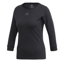 Damski T-shirt (dł. rękaw) Adidas Women 3/4 Top Heat Ready - black/night metallic