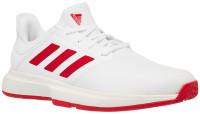 Męskie buty tenisowe Adidas GameCourt M - cloud white/scarlet/off white