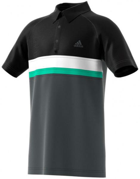 Majica za dječake Adidas Club Color Block Polo - dark grey heather/solid grey