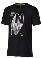 Muška majica Wilson New York City Aerial Tech Tee M - black