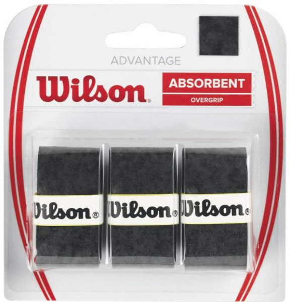 Owijki tenisowe Wilson Advantage 3P - black