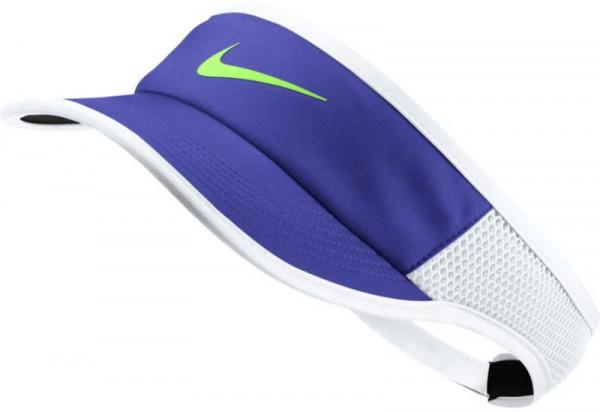 Nike Aerobill Feather Light Visor - paramount blue/white/black/ghost green