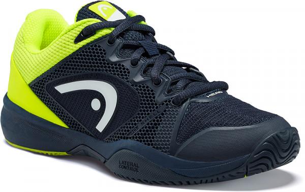 Juniorskie buty tenisowe Head Revolt Pro 2.5 Junior - dark blue/neon yellow