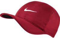 Czapka tenisowa Nike Feather Light Cap - gym red/black/white