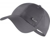 Nike H86 Metal Swoosh Cap - dark grey/mettalic silver