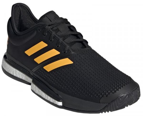 Męskie buty tenisowe Adidas SoleCourt Boost M core blackflash orangecarbon