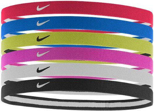 Band Nike Swoosh Sport Headbands 6PK 2.0 - university red/game royal/volt