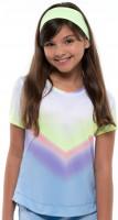 Majica kratkih rukava za djevojčice Lucky in Love Going Wild Ombre S/S Girls - cloud