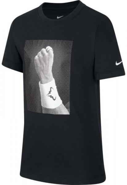 Koszulka chłopięca Nike Court Rafa Tee GFX B - black