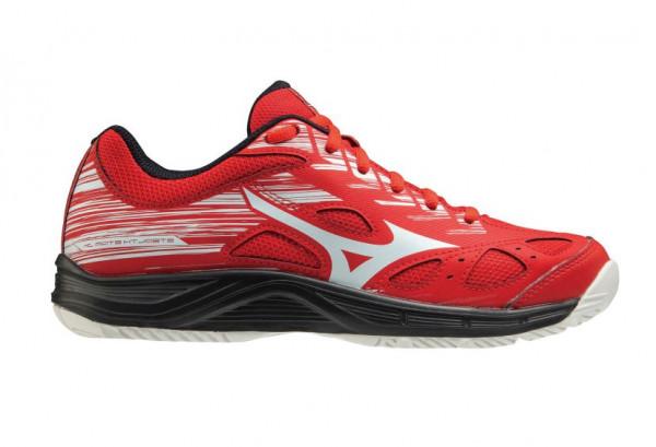 Juniorskie buty do squasha Mizuno Stealth Star Jr - red/white
