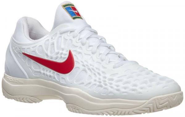 Nike Air Zoom Cage 3 HC JR - white/university red