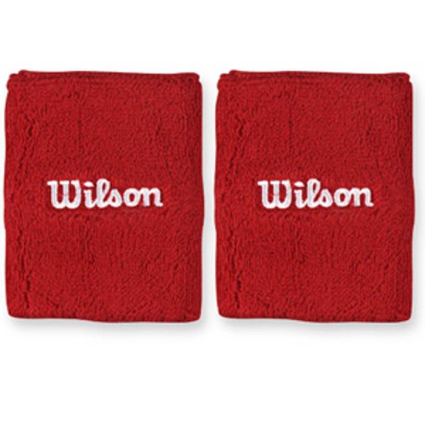 Wilson Double Wristband - red/white