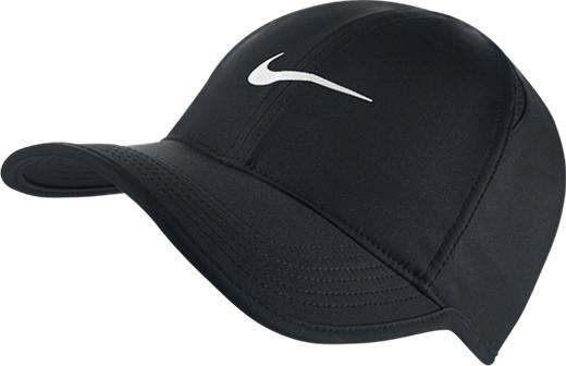 Kapa za tenis Nike Feather Light Cap - black/white