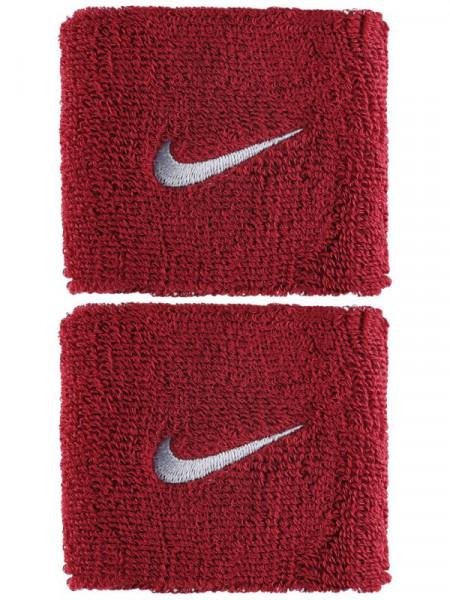 Riešo apvijos Nike Swoosh Wristbands - red crush/wolf grey