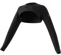 Damski T-shirt (dł. rękaw) Adidas W MKO Shrug - black/gold metallic