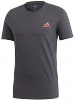 Męski T-Shirt Adidas Paris Graphic Tee - dark grey heather