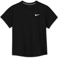 Nike Court Dri-Fit Victory SS Top B - black/black/white