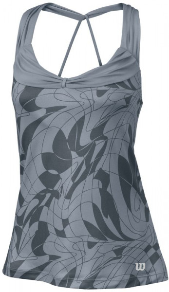 Damski top tenisowy Wilson Spring Art Athletic Tank - trade winds