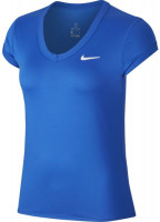 Nike Court Dry Top SS W - game royal/white