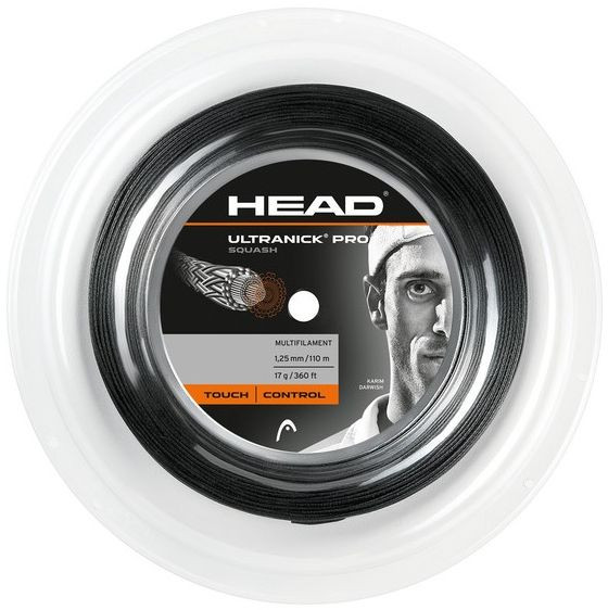 Skvošo stygos Head UltraNick Pro (110 m) - black