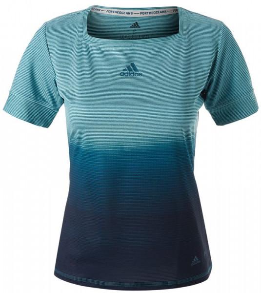 71217ac1f Adidas Parley Tee - blue spirit/legend ink | T-shirt | Odzież Damska ...