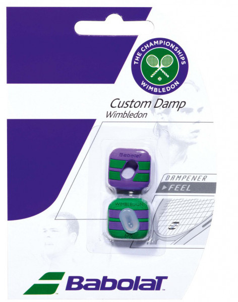 Babolat Custom Damp Wimbledon - green/purple